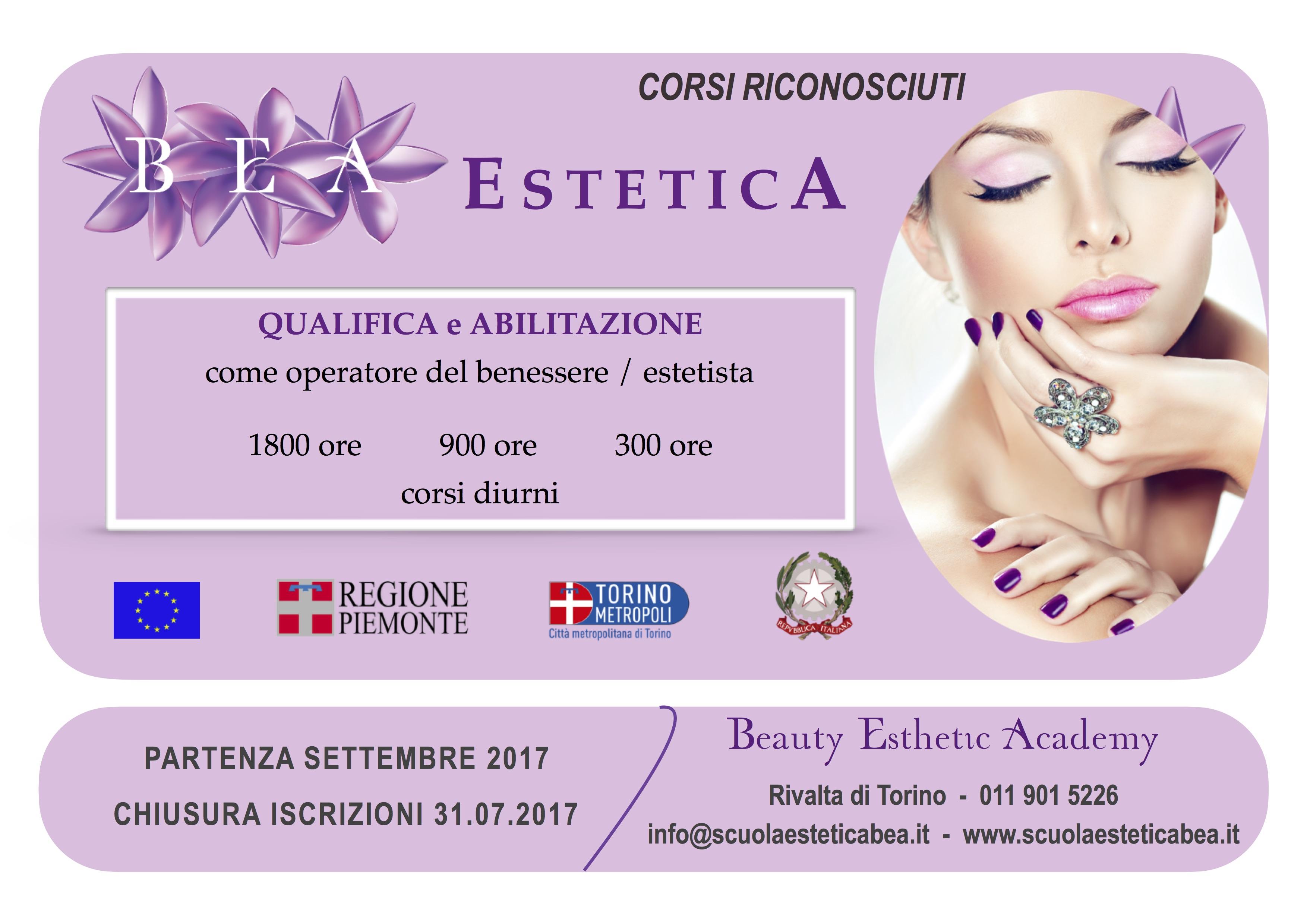 corsi riconosciuti di estetica, scuola BEA, Beauty Esthetic Academy Torino